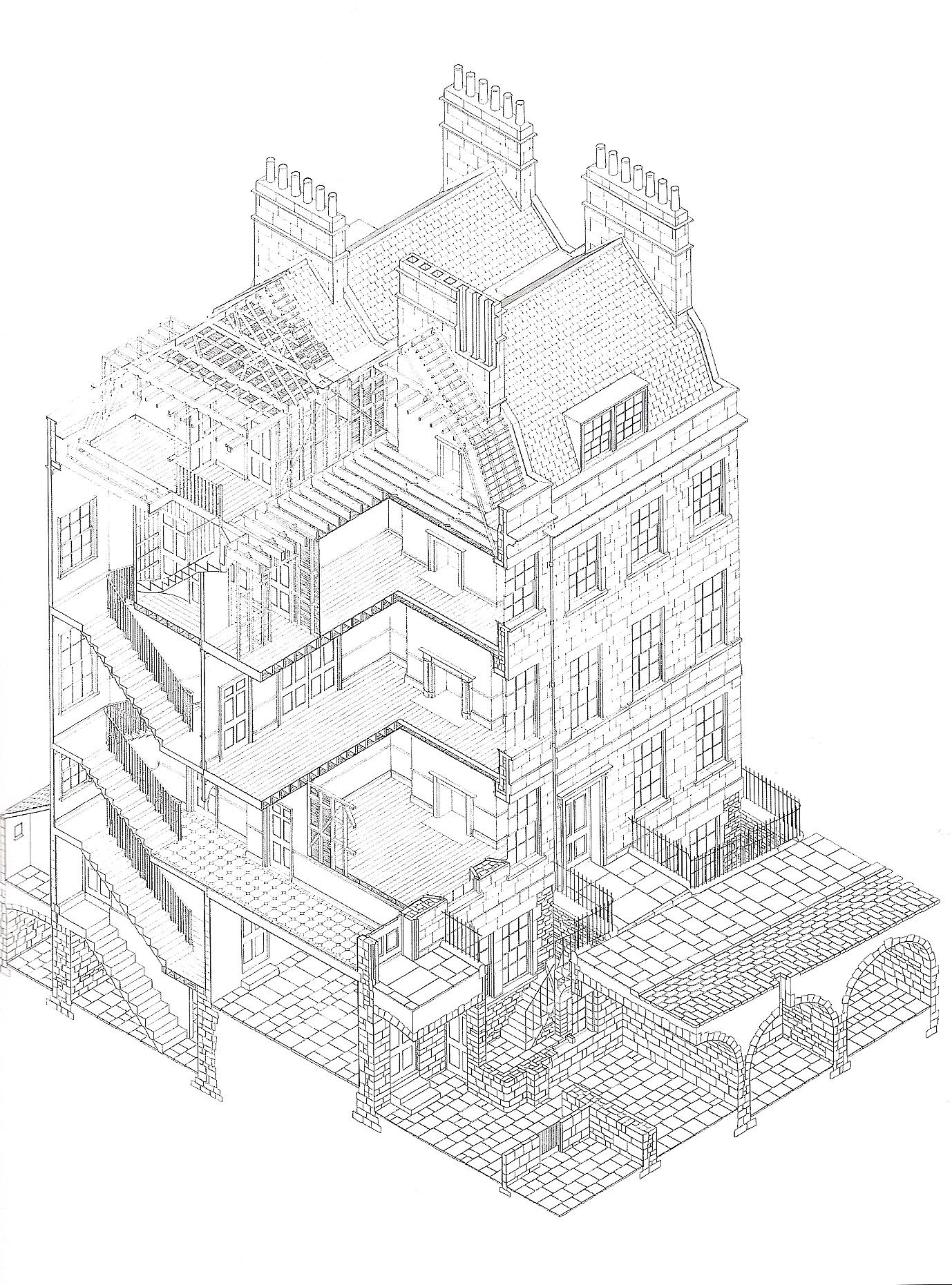 Georgian manor house floor plans