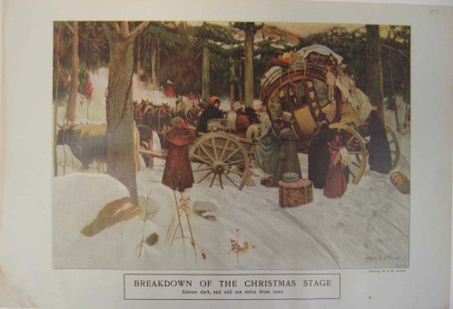 The Breakdown of the Christmas Stage shows how heavily laden the coaches were