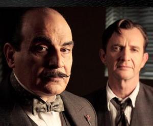 Hercule Poirot and Inspector Kelsey