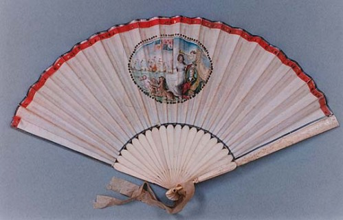 Commemorative fan, Nelson and the Battle of the Nile, 1804
