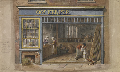 Cow Keeper's Shop, George Scharf, London 1825