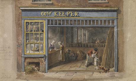 Cow Keeper's Shop, George Scharf, London 1825