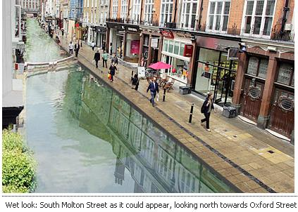 This is how Mayfair might look had the Tyburn been allowed to flow above ground.