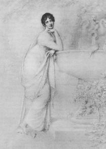 Lady Sarah Jersey, Almack's patroness, from a drawing by Richard Cosway
