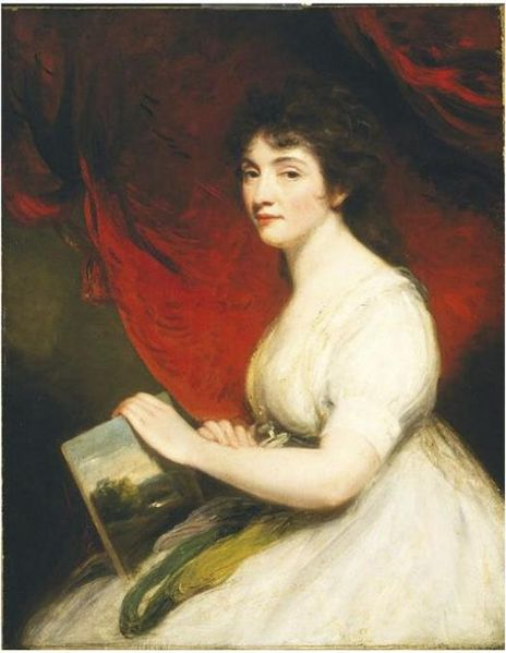 Mary Linwood by Hoppner, 1800