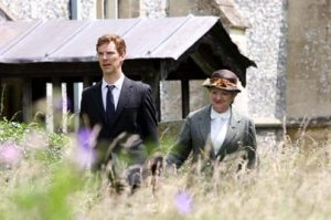 Retired policeman Luke Fitzwilliam and Miss Marple looking for clues