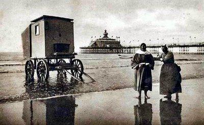 Bathing machine and attendants