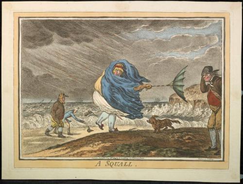 A squall, Gilray 1810