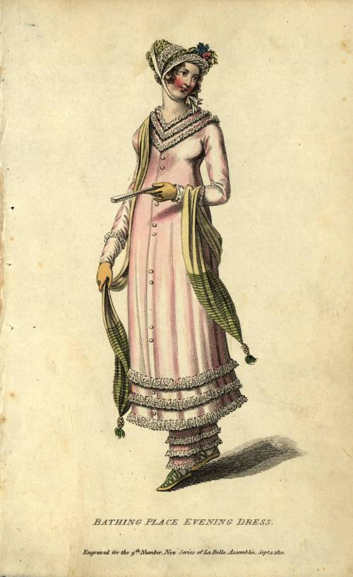 Bathing place evening dress, 1810