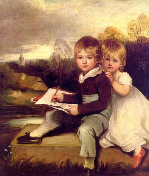 Bowden Children, John Hoppner, late 18th c.