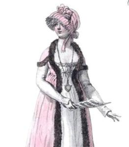 Detail of a plate in the book, Costume Parisien, 1799