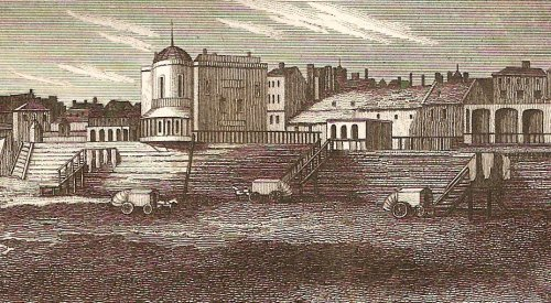 Ramsgate bathing machines off the High Street