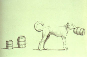 "Portland Sea Dog: ""portrait of a dog which brought 3 barrels of spirits out of the sea."""