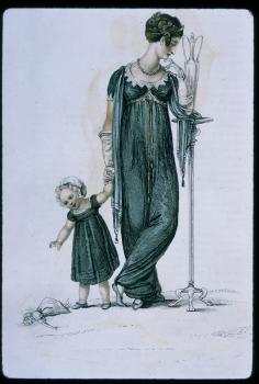 Mourning dress, Ackermann plate, 1809