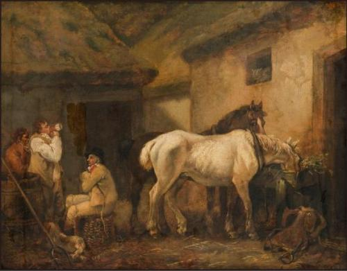 Post-Boys and Horses, 1794, George Morland
