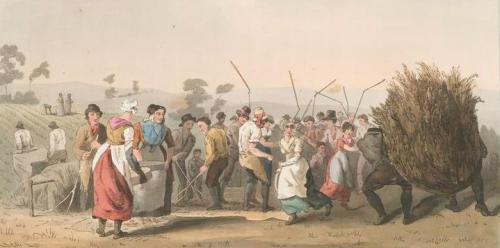 Detail, Rape Threshing, 1813, The Costume of Yorkshire, New York Public Library