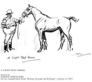 A light post horse, Joseph Appleyard