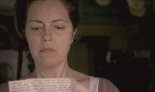 Greta Scacchi as Cassandra reads Jane's letter