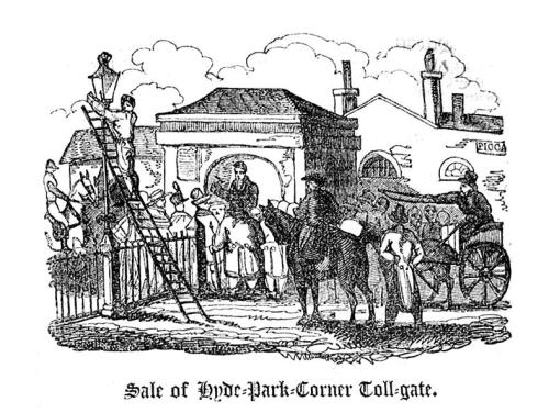 sale of hyde park corner toll gate