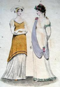 1802 Lady's Monthly Museum afternoon dress june Payne Milliner Old Bond Street