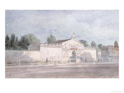 astley's amphitheatre exterior view 1777 william capon