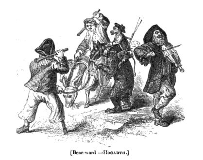 Hogarth, Bear-Ward, Bear and Monkey