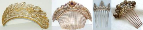tiaras and combs