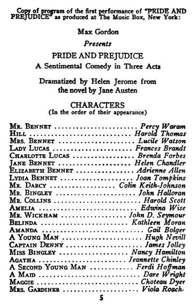 Jane Austen Plays | Jane Austen's World