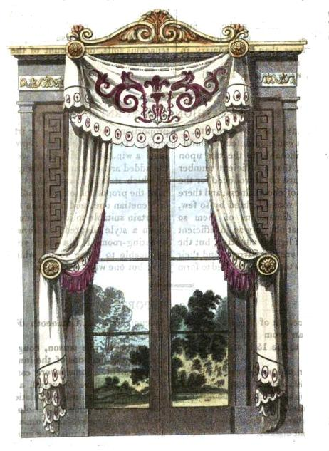 Regency Window Treatments Ackermann Plates Jane Austen