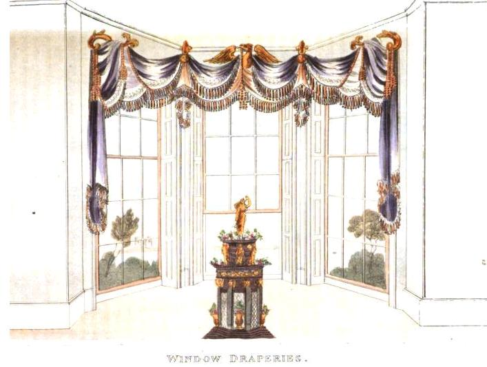 Regency window treatments and draperies jane austen 39 s world for 18th century window treatments