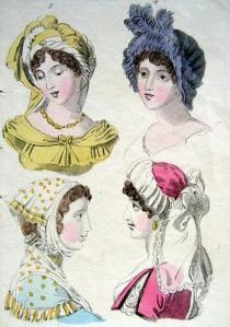 Ladies' bonnets, 1802