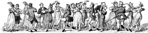 Dancers, Rowlandson, 1790's