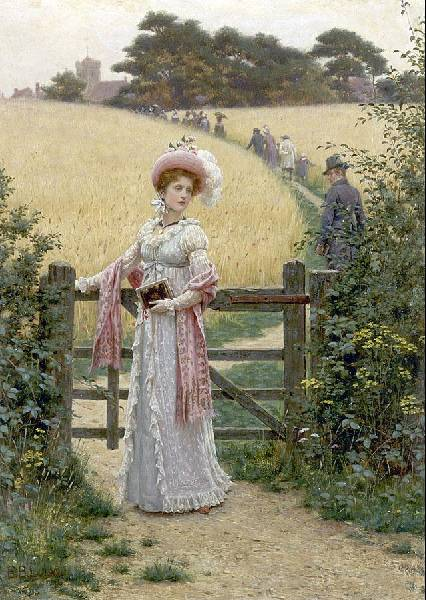 Edmund Blair Leighton's sentimental paintings of the Regency era