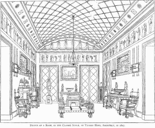 Design of a room, 1807, by Sir Thomas Hope