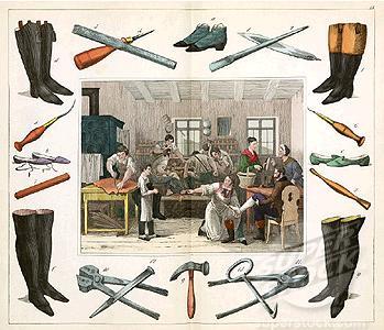 Vintage Picture Shoe Maker Leather