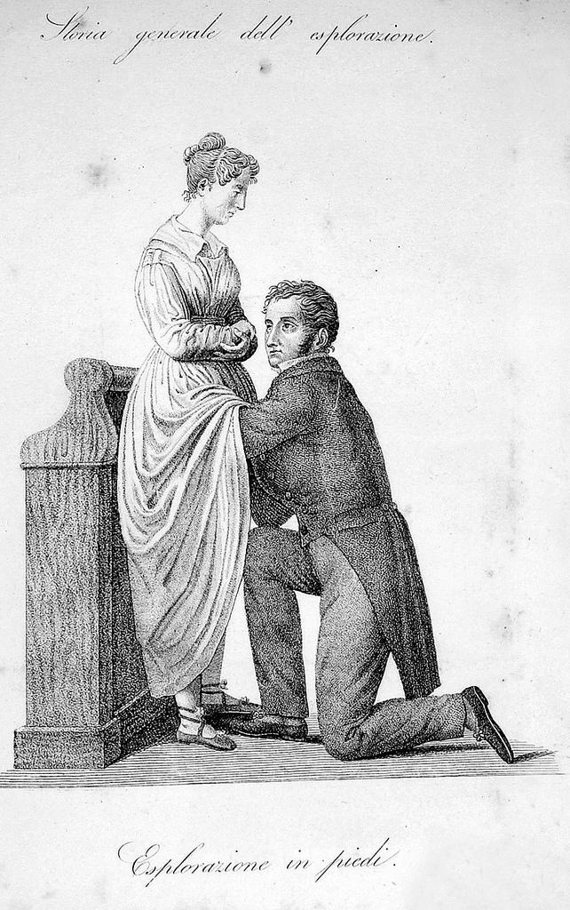 Internal examination of a woman, circa 1800
