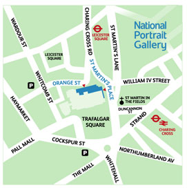 National Gallery London Map.National Portrait Gallery Jane Austen S World