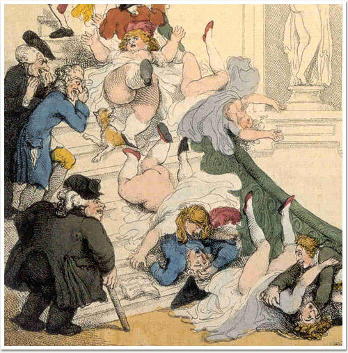 Detail of the Exhibition Staircase, Rowlandson, 1800