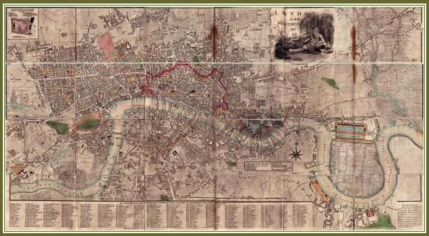 Maps Of 18th And 19th Century London Jane Austen's World: 18th Century London Map At Infoasik.co