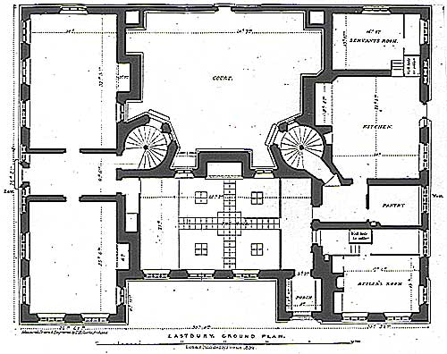 The servant s quarters in 19th century country houses like for Servant quarters floor plans
