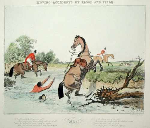 Moving accident by flood and field