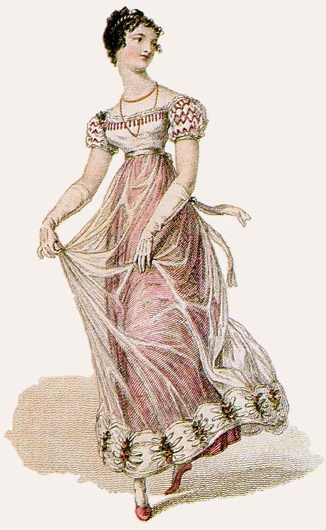 Regency gowns with net | Jane Austen\'s World