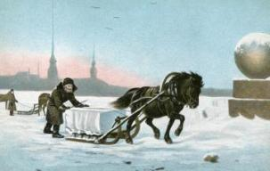 Image result for medieval ice sleds hauling goods