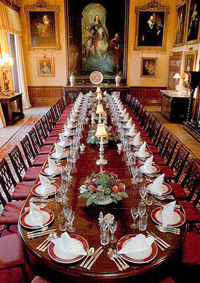 The dining room