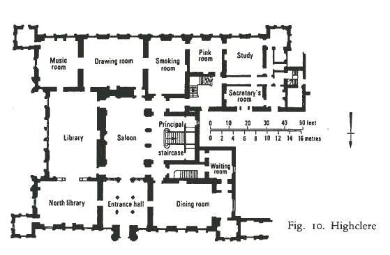 from the victorian country house by mark girouard - Country House Floor Plans