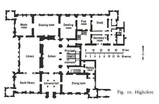 English manor house layout