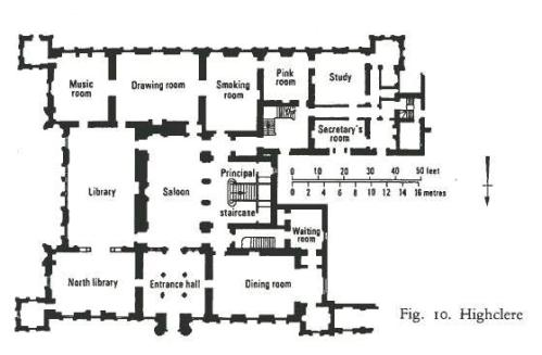 Highclere castle floor plan the real downton abbey jane for 18th century house plans