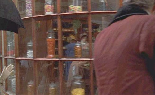 Exterior of a confectioner's shop in Persuasion, 1995.