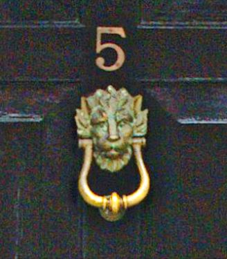 Lion Door Knocker.