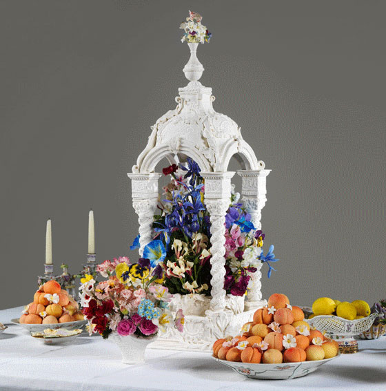 18th Century Dining Elaborate Dessert Table Centerpieces